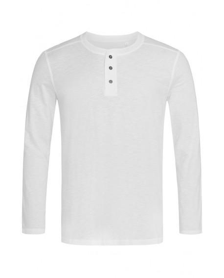 T-shirt Stedman Men SHAWN LONG SLEEVE HENLEY 140 g/m2 (ST9460)