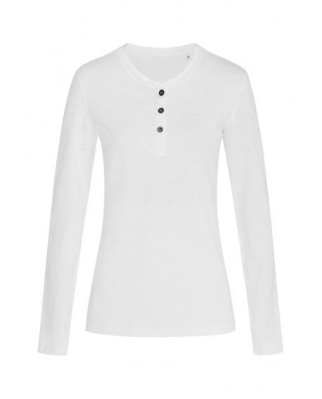 T-shirt z długim rękawem Stedman Women Sharon Henley Long Sleeve 140 g/m2 (ST9580)