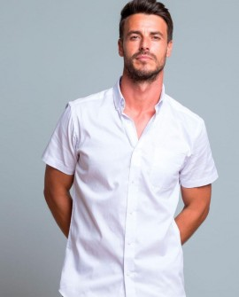 Koszula wizytowa męska krótki rękaw Poplin
