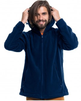 Bluza polar męska z kapturem 420 g/mb (280 g/m2)