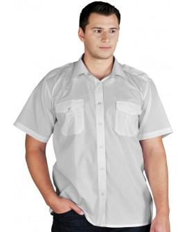 Koszula służbowa z pagonami krótki rękaw