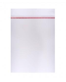 Woreczki foliowe na koszulki 24x30 + 5 cm wypustka z klejem