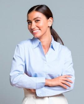 Koszula wizytowa damska długi rękaw Poplin
