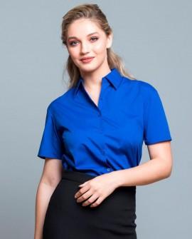 Koszula wizytowa damska krótki rękaw Poplin